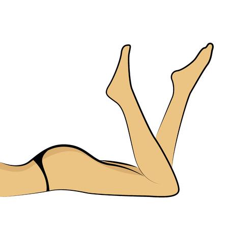 womans nogi w dessous ilustracji wektorowych Eps10