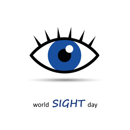 World sight day blue eye icon vector illustration EPS10 Ilustrace