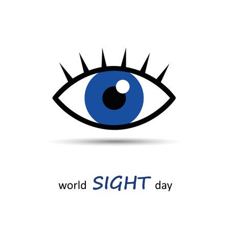 World sight day blue eye icon vector illustration EPS10 일러스트