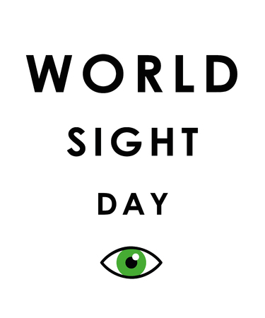 World sight day green eye vector illustration EPS10 Ilustracja