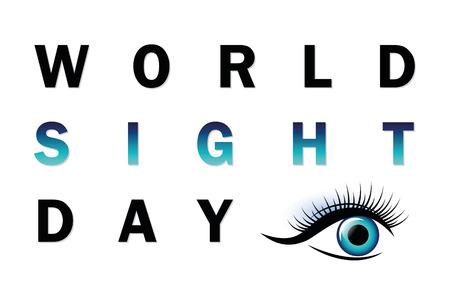 World sight day typography blue eye vector illustration EPS10 Zdjęcie Seryjne - 106845384