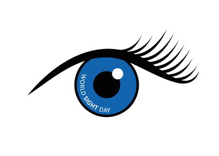 World sight day written in blue eye vector illustration EPS10 Zdjęcie Seryjne - 112032596