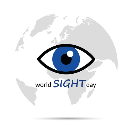 World sight day blue eye vector illustration EPS10