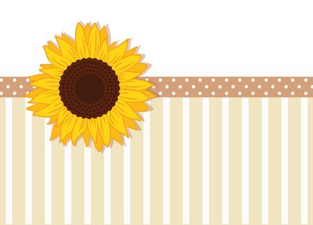 SSunflower dotted line decoration vector illustration EPS10