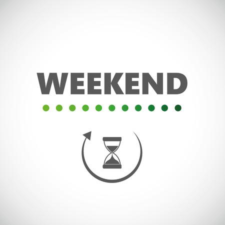 caricamento dell'icona della clessidra del fine settimana illustrazione vettoriale EPS10
