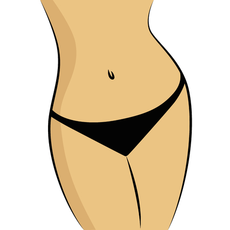Beautiful and fit female body vector illustration EPS10