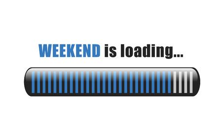 il fine settimana sta caricando l'illustrazione EPS10 di vettore della barra blu Vettoriali