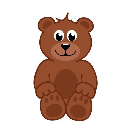 brown happy teddy bear vector illustration EPS10