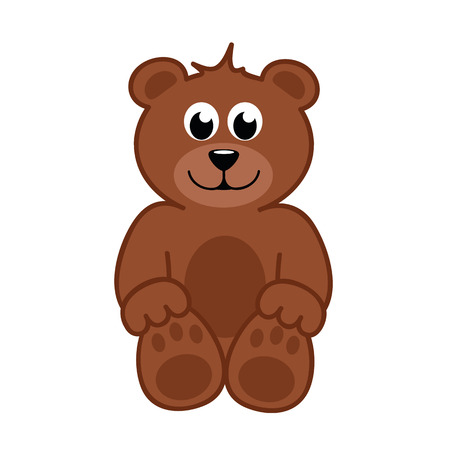 brown happy teddy bear vector illustration EPS10