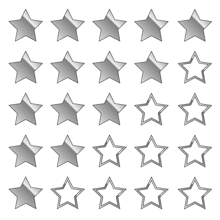 silver stars feedback set vector illustration EPS10