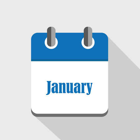 calendar icon business january vector illustration EPS10