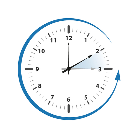 clock switch to winter time numbers vector illustration EPS10