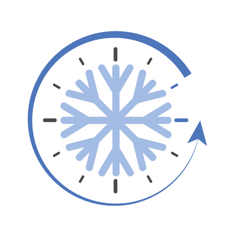 clock switch to winter time simple vector illustration EPS10 Vector Illustration