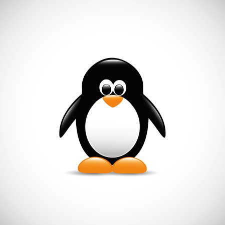 cute penguin antarctic bird vector illustration EPS10 Banque d'images