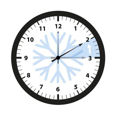 clock switch to winter time vector illustration EPS10
