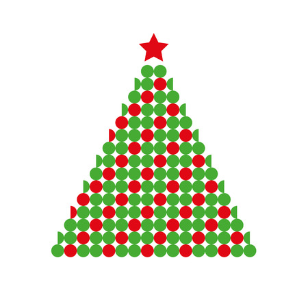 red and green cristmas fir tree vector illustration EPS10 Illustration