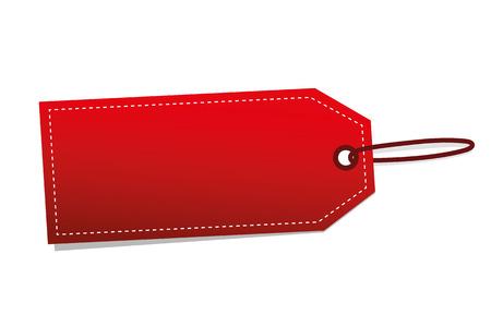 single red label for sale vector illustration EPS10 Illustration
