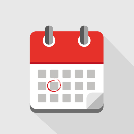 Make an appointment in a red calendar vector illustration EPS10