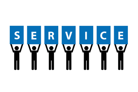 service team pictogram isolated on a white background vector illustration Illustration