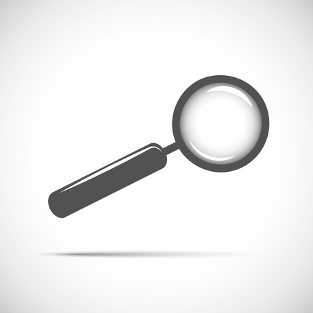 magnifying glass searching looking for information vector illustration