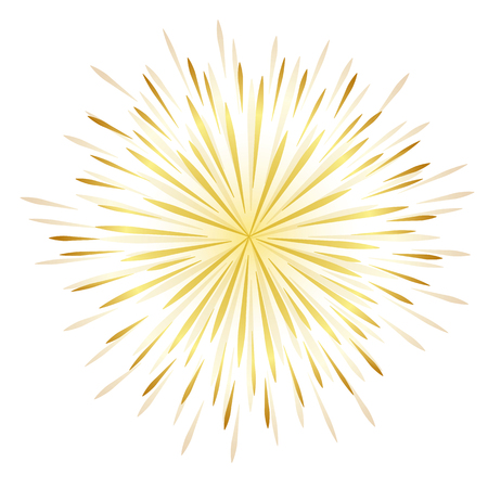 golden firework celebration design vector illustration EPS10 Иллюстрация
