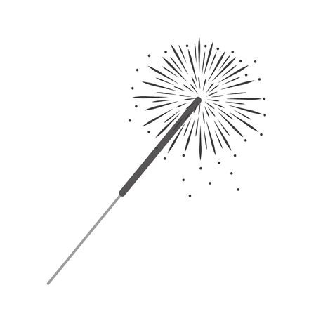 party sparkler isolated on white background vector illustration EPS10