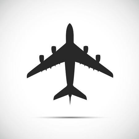 passenger airplane silhouette icon