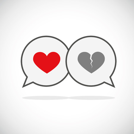 communication love and separation speach bubble icon vector illustration EPS10