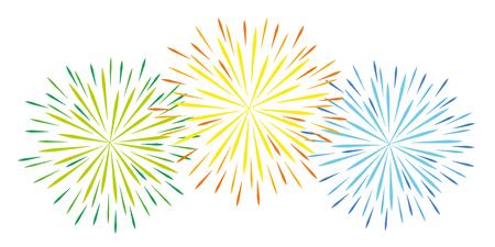 colorful fireworks celebration on white background vector illustration EPS10