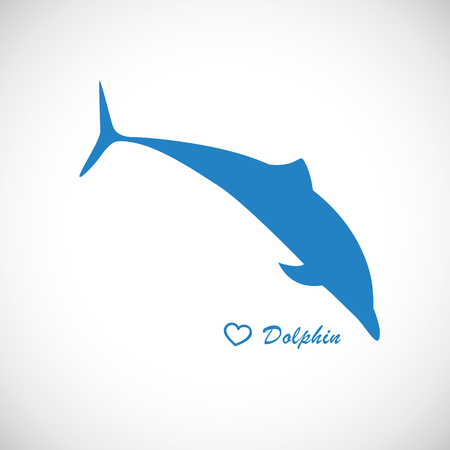 blue dolphin jumps icon