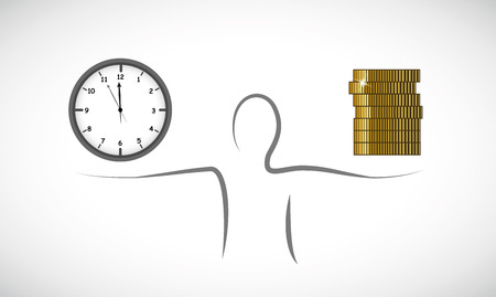 business concept about time and money vector illustration EPS10