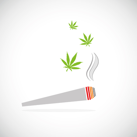 marijuana joint smoking drug cigarette vector illustration