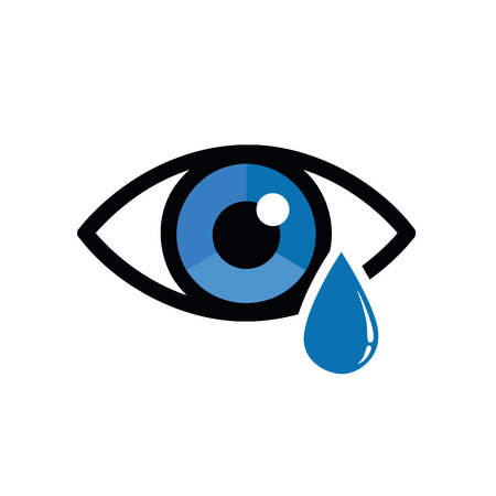 blue dry eye with eye drop icon