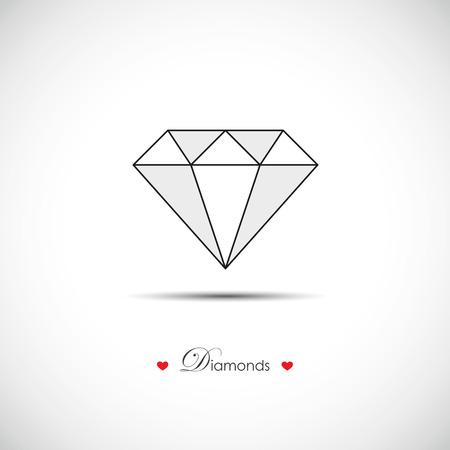 shiny diamond brilliant symbol Иллюстрация
