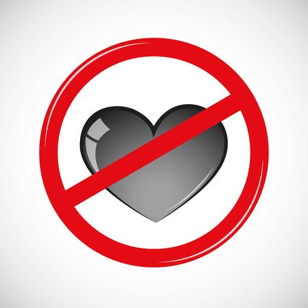 forbidden love sign icon pictogram vector illustration EPS10 Illustration