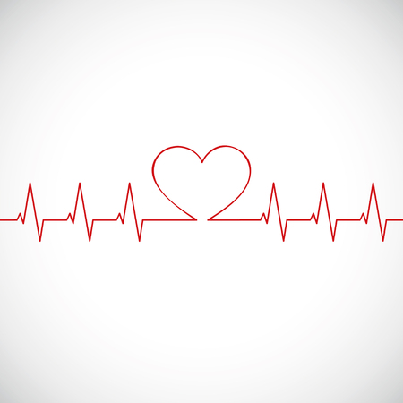 medicine heartbeat flat lines cardiogram vector illustration EPS10