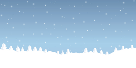 winte snow background with firs landscape vector illustration EPS10