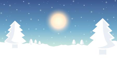 winter landscape firs in the snow background vector illustration EPS10 Illusztráció