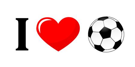 I love football pictogram typography vector illustration EPS10 Çizim