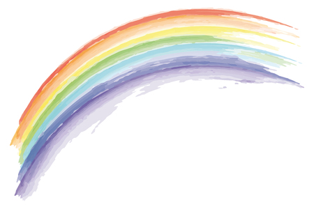 watercolor rainbow isolated on white background vector illustration EPS10