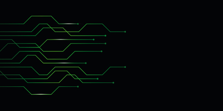 green abstract digital technology circuit board background vector illustration EPS10
