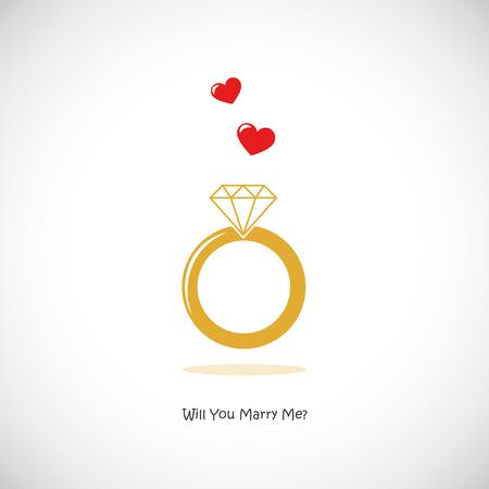 Heiraten Sie mich Ehering Symbol Piktogramm Vektor-Illustration EPS10? Vektorgrafik
