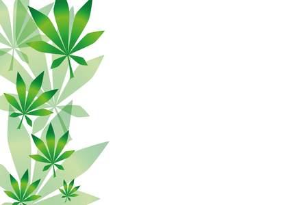 background with green cannabis leaves vector illustration EPS10