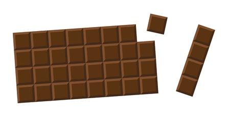 chocolate bar whole milk choco pieces vector illustration EPS10