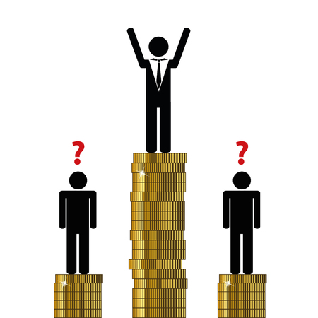 gap between rich and poor finance pictogram vector illustration EPS10