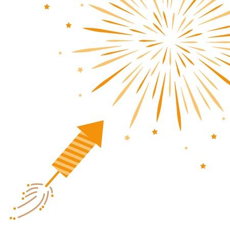 firecracker and firework isolated on white background vector illustration EPS10