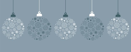 hanging christmas ball decoration with snowflakes vector illustration EPS10 向量圖像