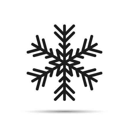 snowflake icon isolated on white background vector illustration EPS10