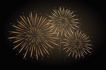 fireworks in the dark sky vector illustration EPS10