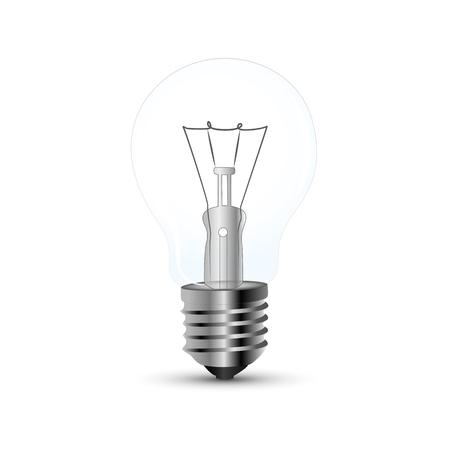 light bulb on white background vector illustration EPS10